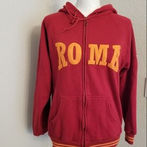 A.S. Roma Zip Up Hooded Long Sleeve Jacket SZ M